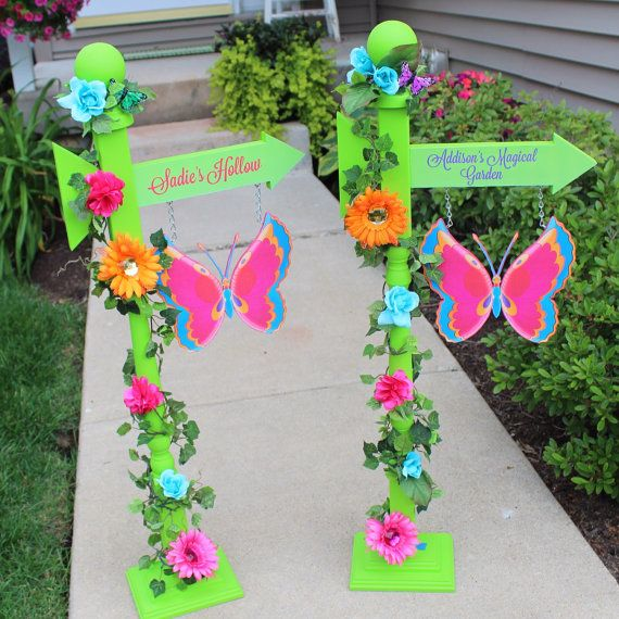 Fairy Garden Party Personalized Sign Fairy by ElleryDesigns