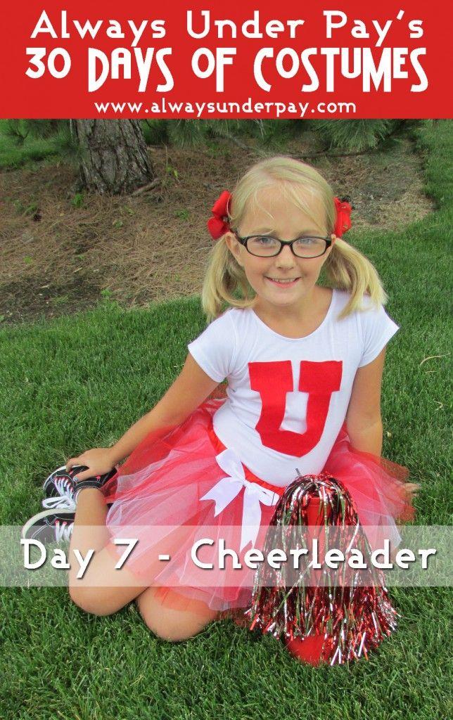 Day 7 - Cheerleader DIY Halloween Costume Tutorial | Always Under Pay