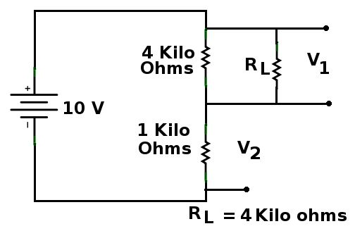 library electronic circuits voltage divider