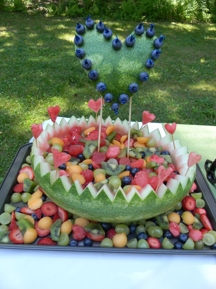 My Latest Watermelon Carving For A Bridal Shower Watermelon Carving Fruit Watermelon Basket