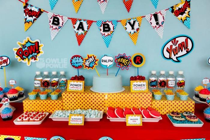 superboy/girl baby shower | kara's party ideas