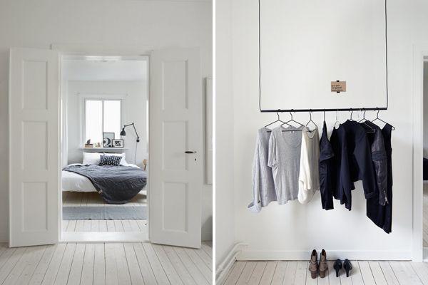 slaapkamer idee, witte vloer