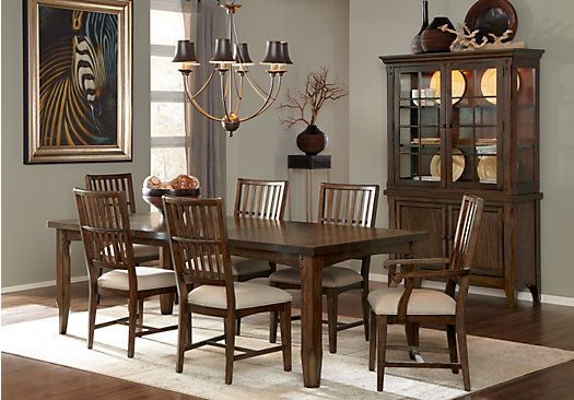 brown cherry 5pc leg dining room at rooms to go find dining room sets