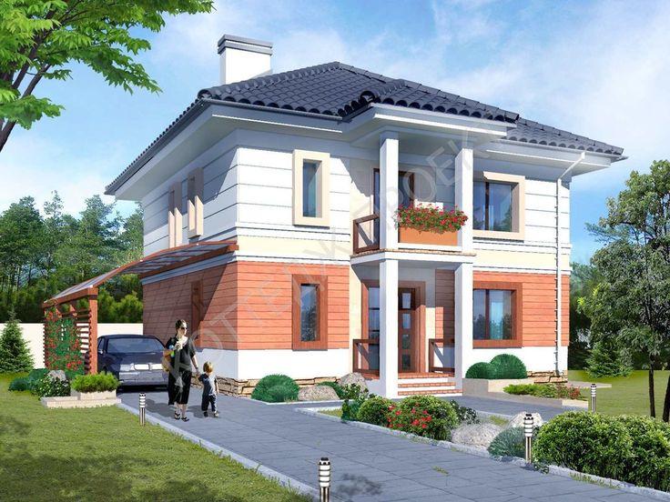 Проект газобетонного дома I-0497 Проекты домов из пеноблоков и газобетона Каталог