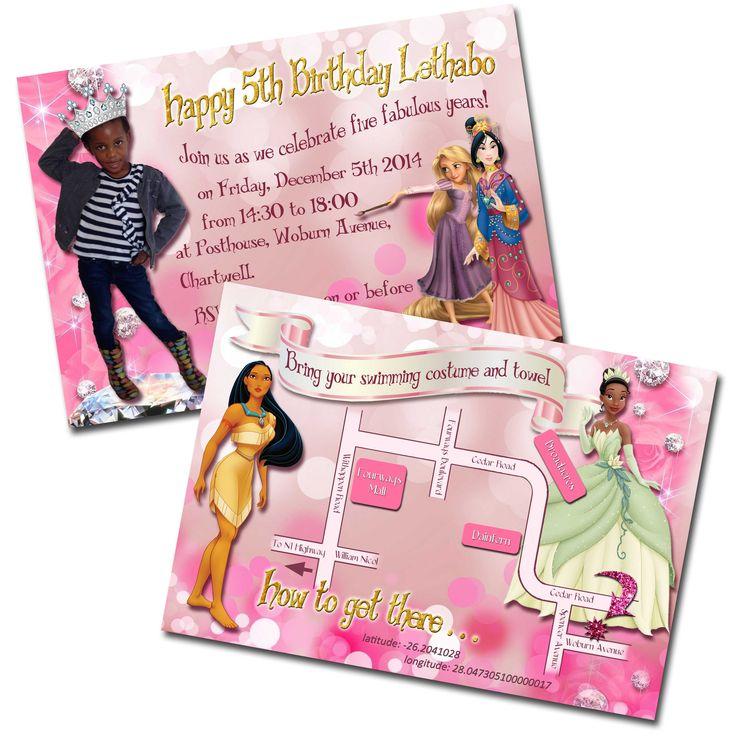 Disney Princesses party invitation
