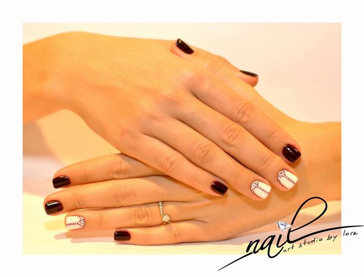 nails marsala nailart studio design white