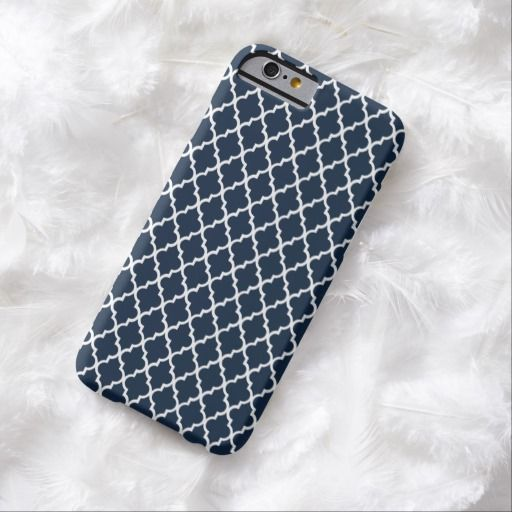 Cute iPhone 6 Case! This Navy Blue Moroccan Pattern Mod iPhone 6 case can be personalized or purchased as is to protect your iPhone 6 in Style!