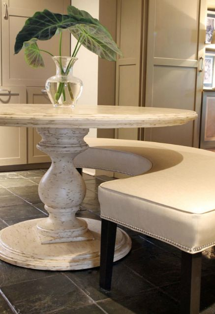 Curved Bench For Dining Table Need To Figure Out How Make This In Diffe Colors Obvioulsy Room With Banquette 2018 Pinterest