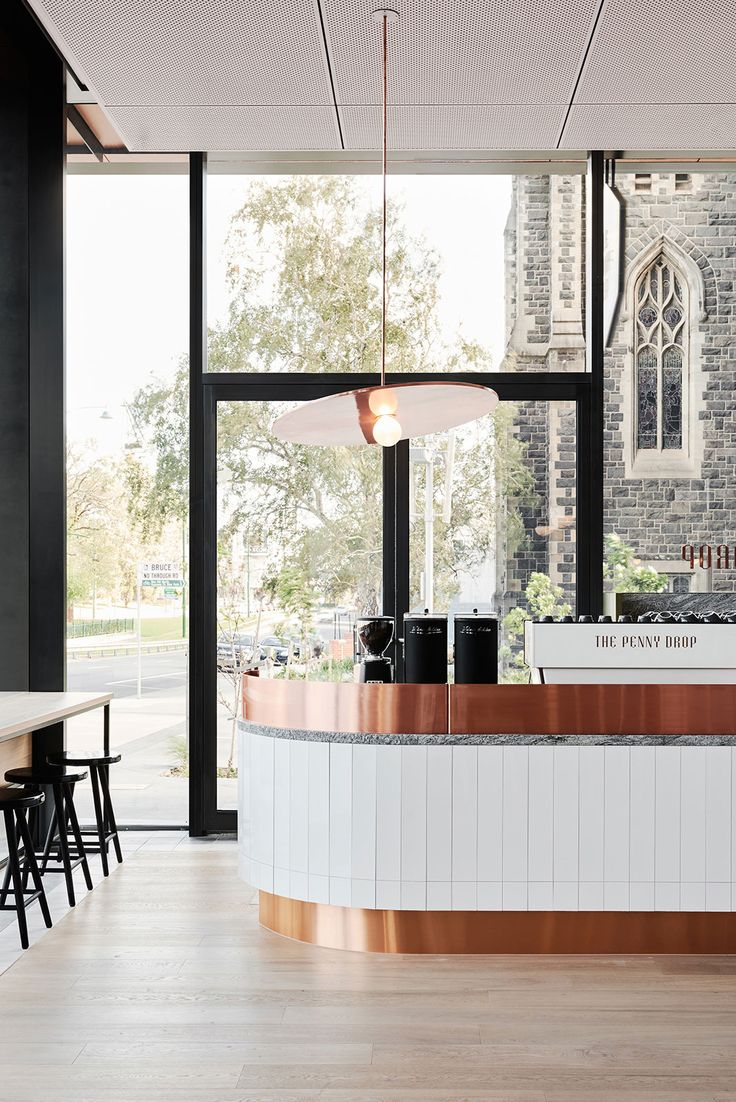 The Penny Drop Café at the base of the new Australian Tax Office building   designed by Huntly in collaboration with Pop & Pac