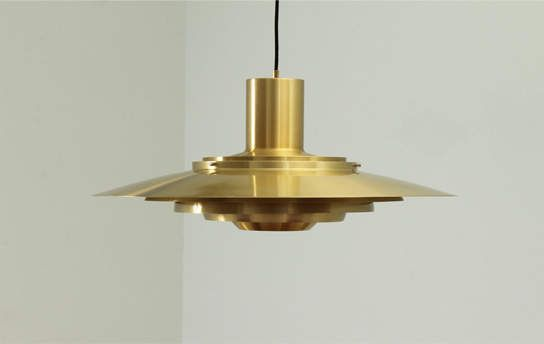 Large Pendant Lamp in Brass by Fabricius and Kastholm
