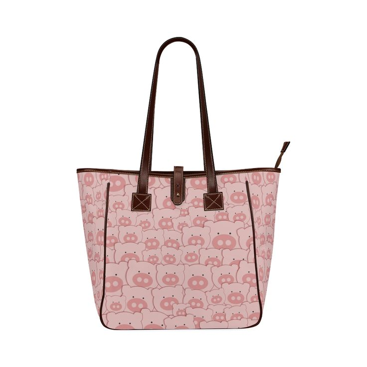 Pink Piggy Pigs Classic Tote Bag (Model 1644)