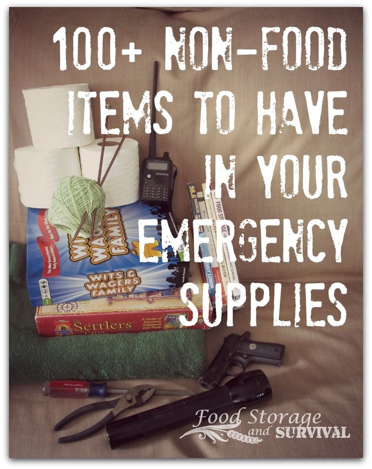Food storage is only the beginning of being prepared for an emergency.  Besides food, there are other supplies you'll want to have in your emergency stash.  This list of 100+...