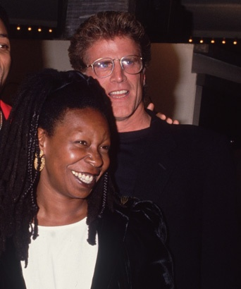 Ted Danson and Whoopi Goldberg...This Hollywood Romance Hit All Kind of Nerves...Firstly, It Was Interracial, When This Was Still Rare, Even in Tinseltown..Secondly, Danson Ended Up In A $30 Million Dollar Divorce From Wife #2 Due to This Love Affair...But, the Heat Soon Cooled and Both Moved On...He to Actress Mary Steenburgen and She to Actor Frank Langella...But, It Looked Like the Real Deal!!