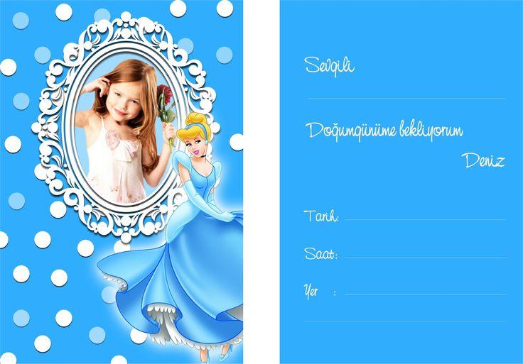 Cinderella Birthday Party SİNDİRELLA KİŞİYE ÖZEL ZARFLI DAVETİYE: Doğum günü organizasyonunuz için ilk adım davetiye oluşturmak isterseniz size özel tasarlanacak Sindirella Doğum Günü temalı davetiye ile çağrınıza renk katabilirsiniz.