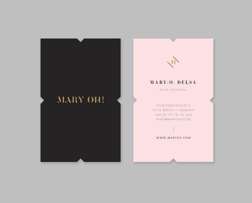 Like the unique-ness of her business cards.  the edges, colors and logo...all seem fantastic together