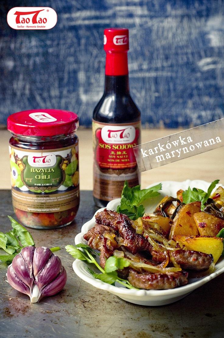 Karkówka marynowana w sosie sojowym TaoTao ze smażonymi ziemniaczkami, http://taotao.pl/przepisy_kulinarne/t,karkówka/m,1/id,2265948,karkowka_marynowana_w_sosie_sojowym_taotao_ze_smazonymi_ziemniaczkami_taotao.html