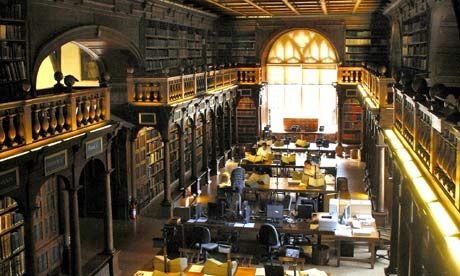 Bodleian Library, Oxford. The library. (Duke Humfrey's Library)
