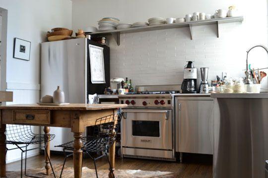 Best 25 Stainless Steel Kitchen Shelves Ideas On Pinterest Simple Kitchen Design Pink Wooden