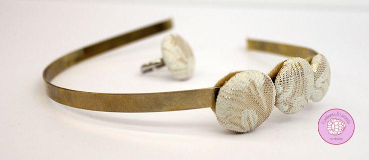 #diadema y #anillo #botones #handmade