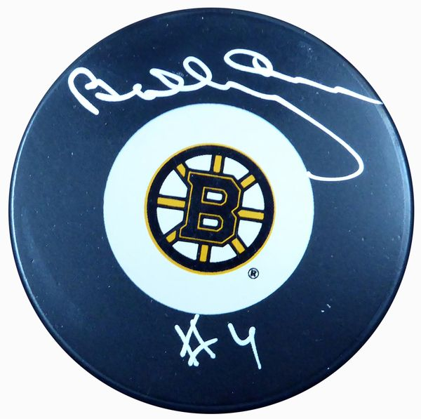 Bobby Orr Autographed Boston Bruins Hockey Puck - Beckett COA