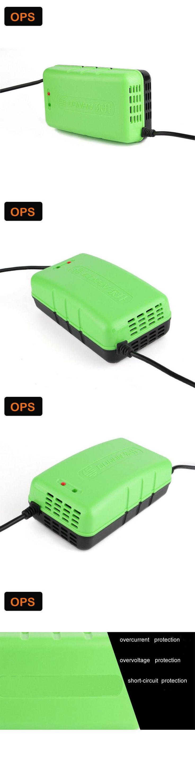 New LED display smart pulse repair function 64V 14AH Lead Acid Battery charger&Lood-zurr batterijen Acculader voor 220V input