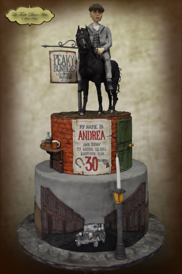 "Peaky Blinders themed cake  by Adelina - ""Le Torte DecorArte"""