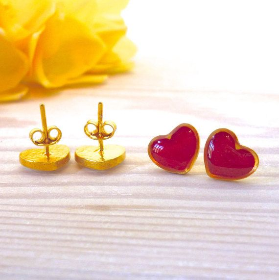 Hey, I found this really awesome Etsy listing at https://www.etsy.com/listing/270692371/heart-earrings-heart-studs-heart-stud