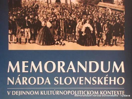 7. 6.: Výročie Memoranda národa slovenského - pamätný deň SR  Význam Memoranda národa slovenského, prijatého 7. júna 1861 na Slovenskom národnom zhromaždení v Turčianskom Svätom Martine, je aj v tom, že sa stalo dlhodobým slovenským programom do roku 1915.