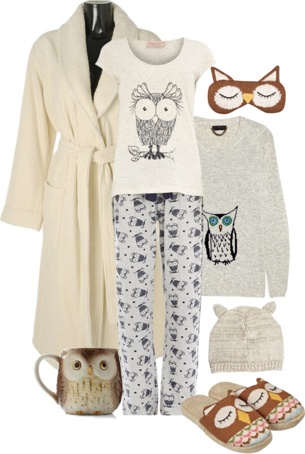 """""""Who Gives a Hoot"""" by sherry7411 on Polyvore what I'd wear in my room"""