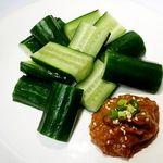 彭家 タッカンマリ - 料理写真:生胡瓜味噌