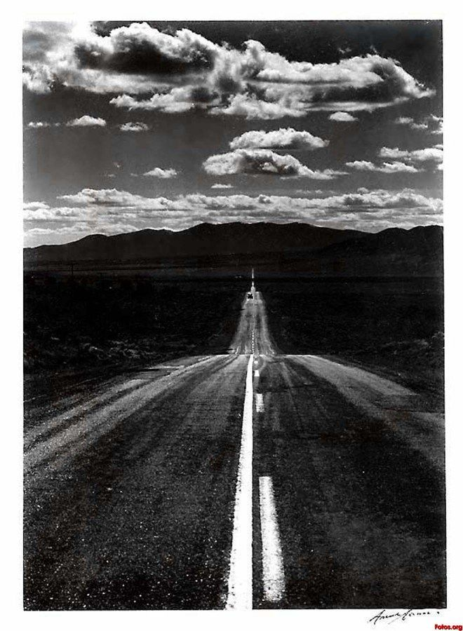 nevada desert road, Ansel Adams