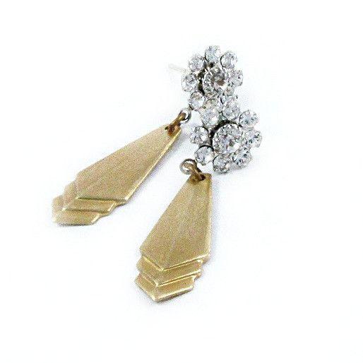 Art Deco stile geometrico e orecchini del fiore - disegni Lauren Blythe