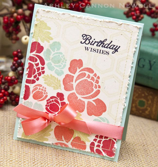 The card that Ashley made from her inspiration piece--fabulous!: Rosie Put, Color Combos, Birthday Wish, Pti Cards, Papertrey Ink, Color Combinations, Cards Pti, Beautiful Birthday, Papertrey Ideas
