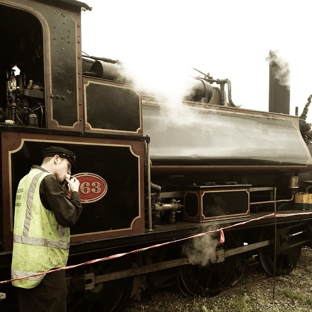 Fueling up on a #sausagesizzle before the #steamtrain departs in #feilding