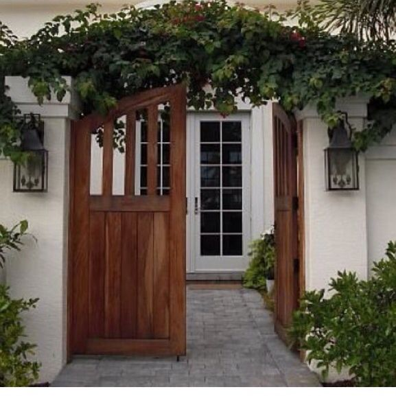 Stucco Wall And Gated Entry Doors Pinterest Stucco