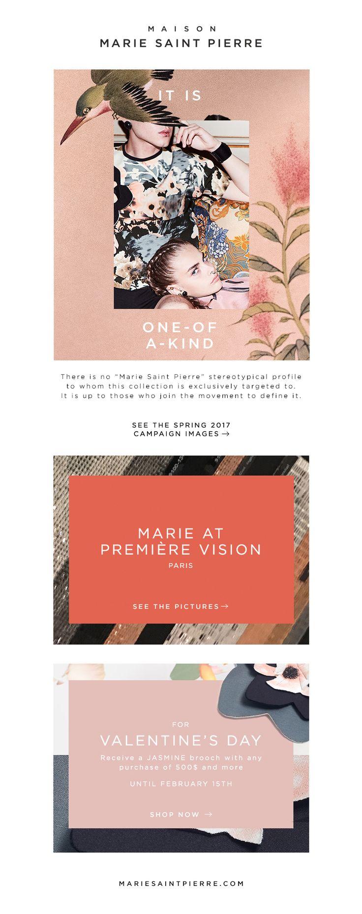 Campagne P17 Marie Saint Pierre Newsletter design