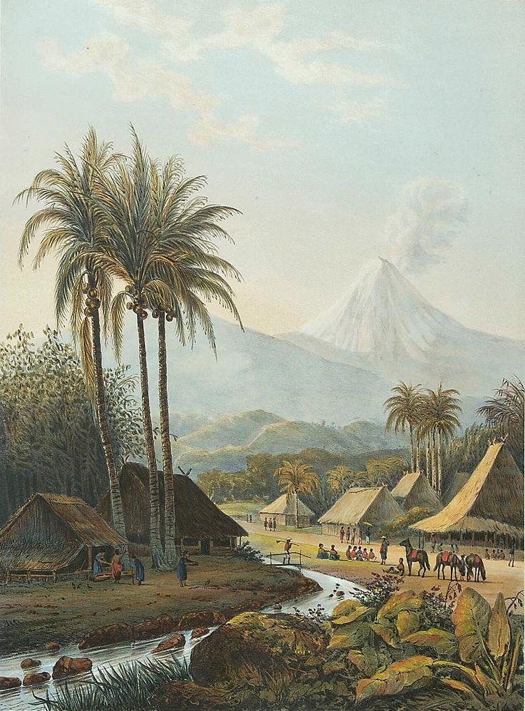 De vulkaan Semeru. Abraham Salm, 1865-1872 Papier, 36,2 x 26,1 cm