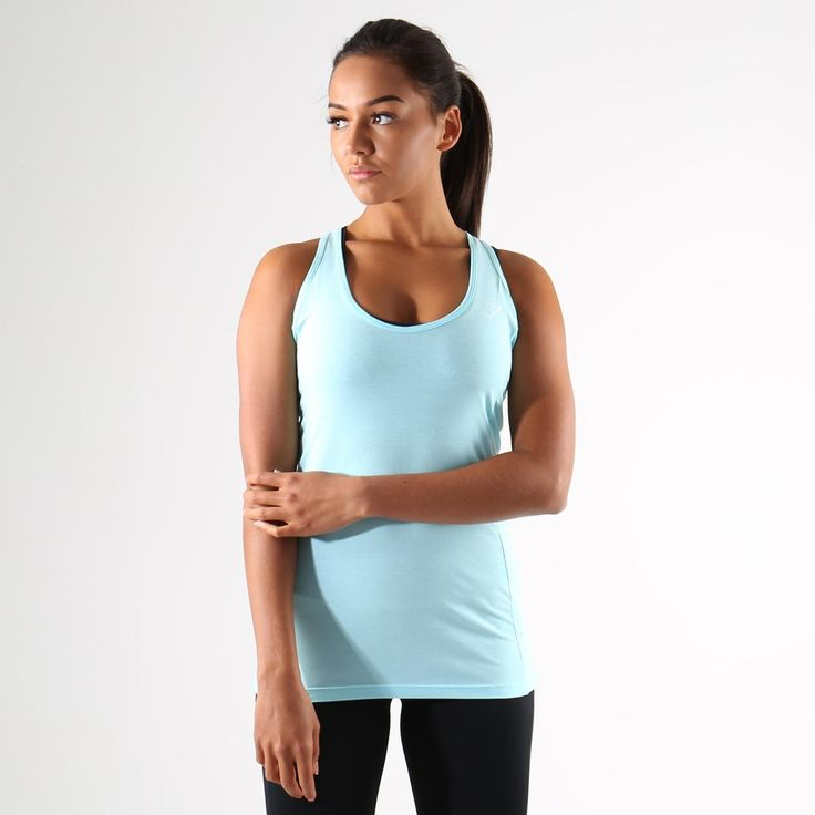 Gymshark Tempo Vest II - Pale Turquoise at Gymshark UK | Be a visionary.