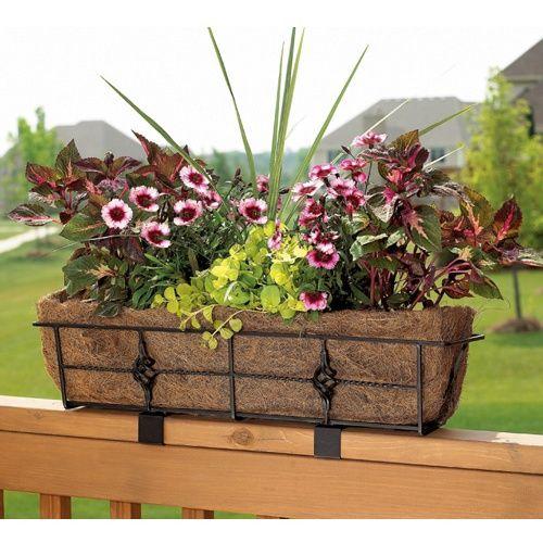 Adjustable Window Box Deck Rail Kit: 25+ Best Ideas About Planter Liners On Pinterest