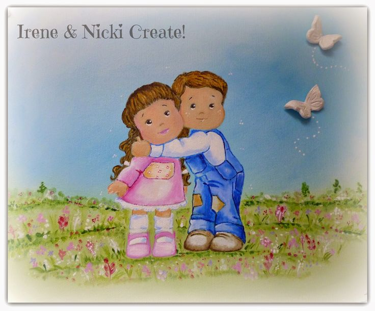 Irene & Nicki Create!  :                  'Twins Forever' Canvas Art       ...
