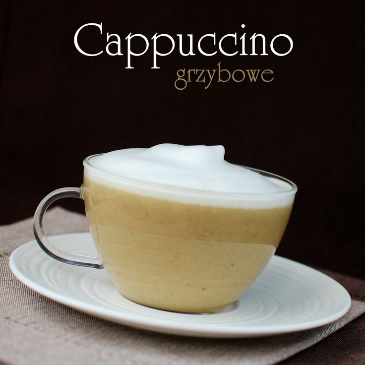 Cappuccino - pieczarki, por, wywar warzywny