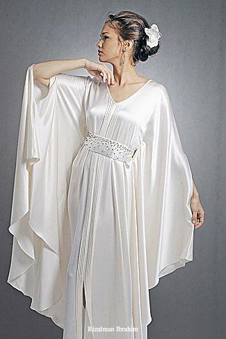 203 best white caftan dress images on pinterest caftans for White kaftan wedding dress