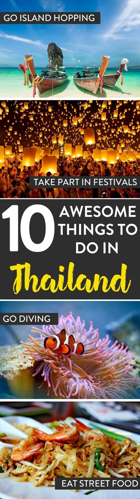 Thailand Travel   Looking for awesome things to do while in Thailand? Here are 10 of our recommendations on what to see and do.