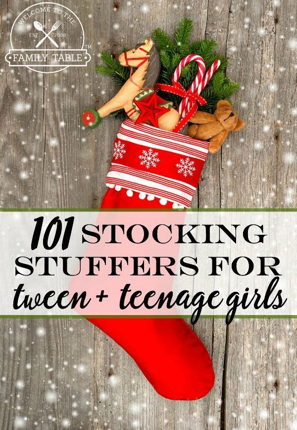 101 Stocking Stuffers For Tween Girls: Need a little inspiration for your tween girls stocking?  This list should help jump start your search!