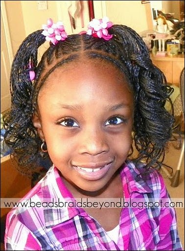Terrific 1000 Images About Natural Kids Cornrow Pigtails On Pinterest Short Hairstyles For Black Women Fulllsitofus