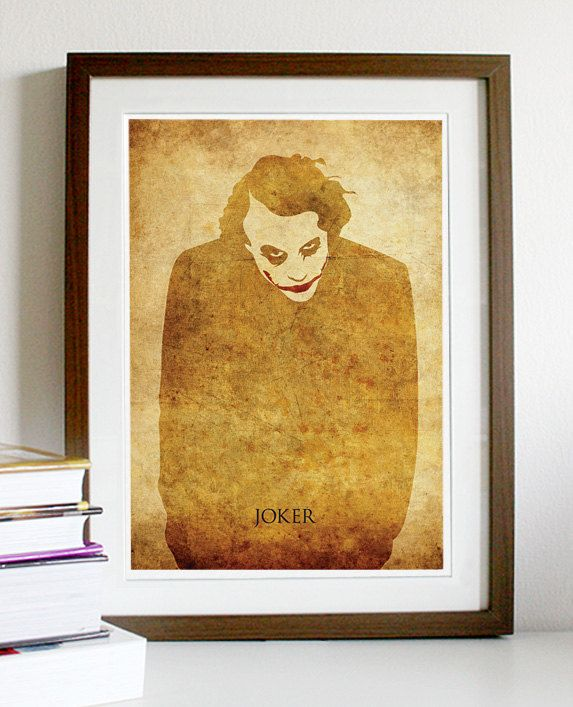 Joker Vintage A3 Poster Print by Posterinspired on Etsy, $18.00