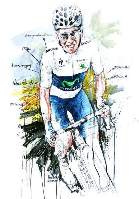 Nairo Quintana, Team Movistar, gewinnt die 20. Etappe der 100. Tour de France…