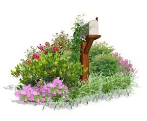 Sunny Mailbox Garden