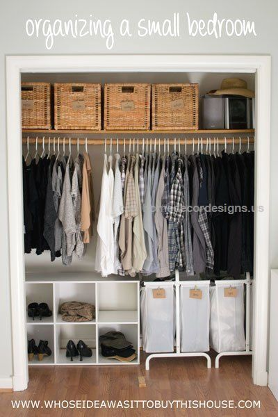 How We Organized Our Small Bedroom  how we organized our small bedroom, bedroom ideas, closet, organizing, storage ideas  http://www.coolhomedecordesigns.us/2017/06/11/how-we-organized-our-small-bedroom-2/