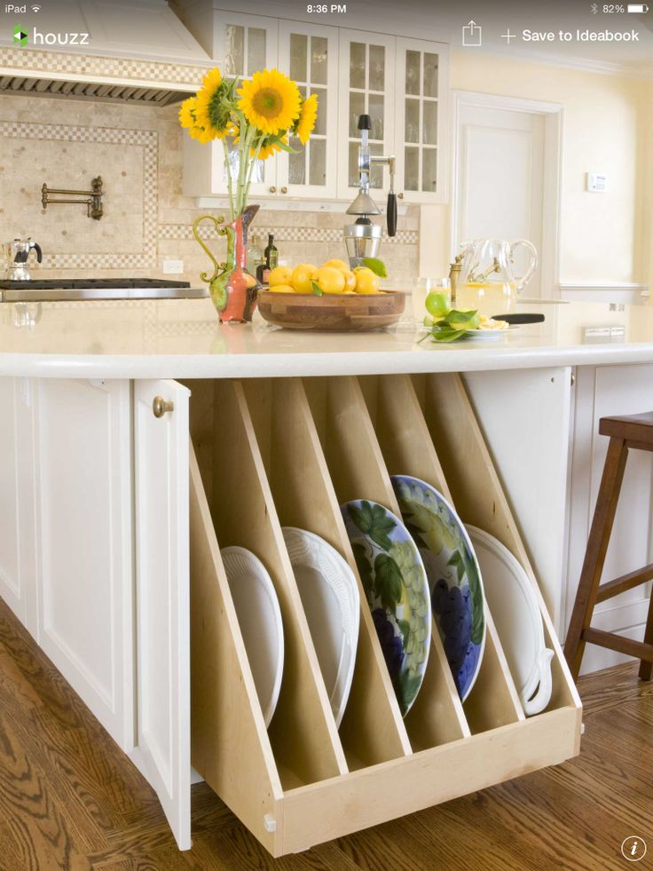 Traditional Kitchen By Kitchens By Meyer Inc. Pull Out Large Platter Storage